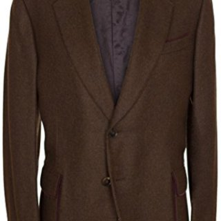 Gucci Men's Brown 100% Cashmere Two Button Jacket US 42 EU 52