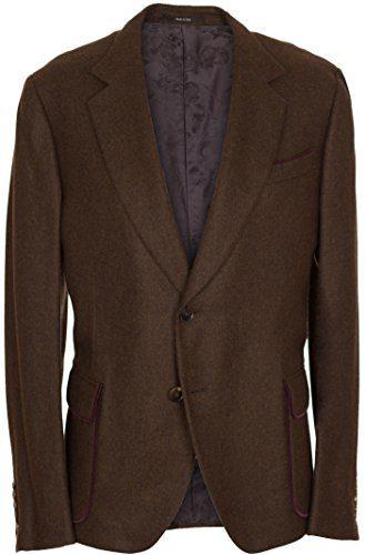Gucci Men's Brown 100% Cashmere Two Button Jacket US 42 EU 52