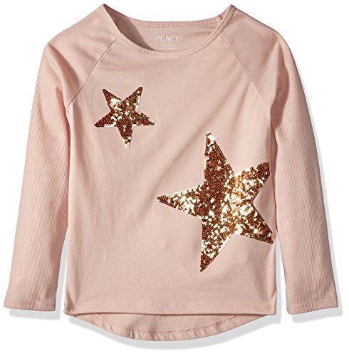 The Children's Place Big Girls' T-Shirt, Rose Dust 6, XXL(16)