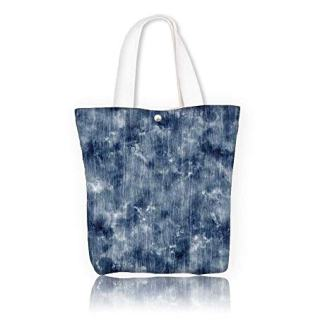 Canvas Shoulder Hand Bag abstract washed effect