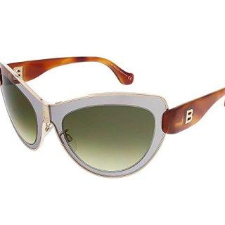 Balenciaga Sunglasses 20P Gold/Grey Frame, Green Gradient