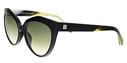 Balenciaga Women's Shiny Black/Gradient Green