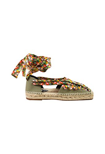 Balenciaga Women's Beige Multicolor Canvas Satin Floral Print