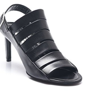 Balenciaga Women's Strappy Leather Open Toe Slingbacks Black