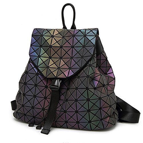 HotOne Shard Lattice Design Geometric Backpack Holographic Reflective