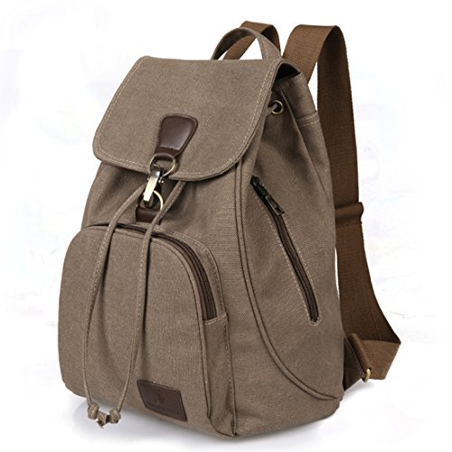 42e2af39ad9b Qyoubi Womens Canvas Fashion Backpacks Purse Casual Clout Wear ...