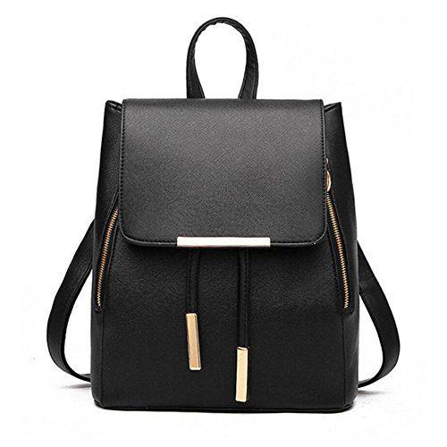 Women Backpack Purse PU Washed Leather Large Capacity Ladies Rucksack