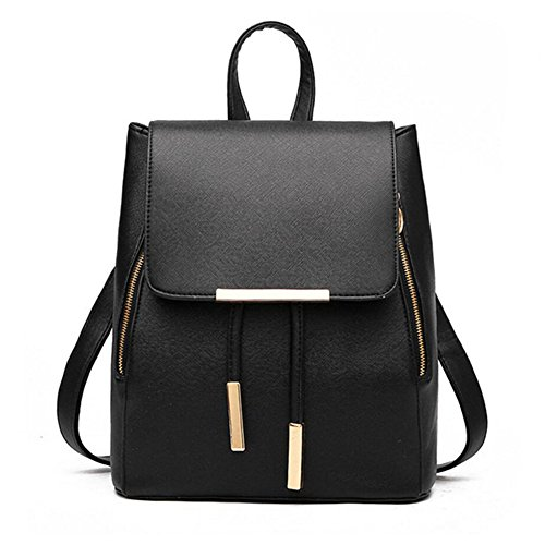 Women Backpack Purse PU Washed Leather Large Capacity Ladies Rucksack