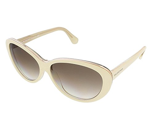 Oval Cat-eye Sunglasses, Ivory/crystal