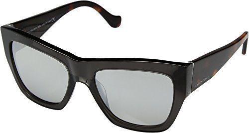 Balenciaga Women's Transparent Grey/Havana/Flash Smoke Sunglasses