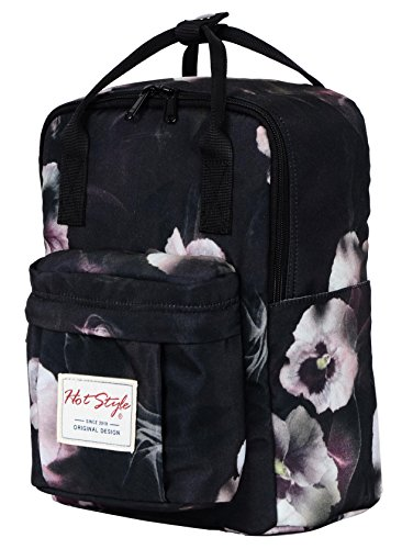"Bestie 12"" Cute Mini Small Backpack Purse Travel Bag - Floral Misty"