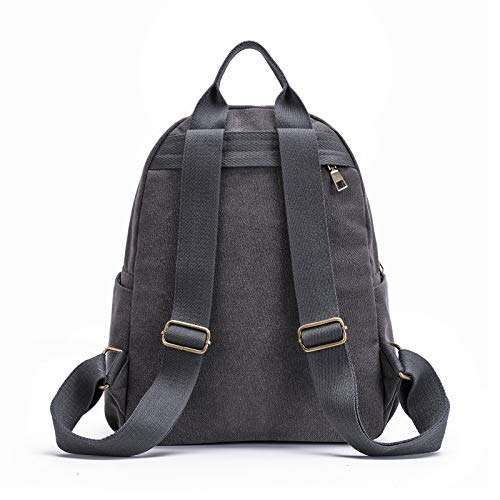 9926ab1221ce Qyoubi Womens Canvas Casual Daypacks Fashion Backpack Girls