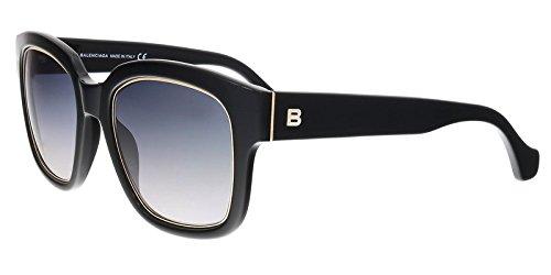 Balenciaga Black Fashion Sunglasses 52mm