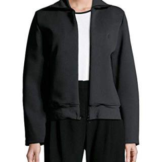Balenciaga Womens Ribbed Mockneck Jacket, 40F