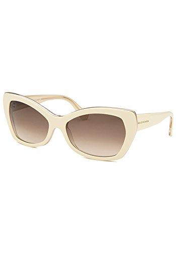 Balenciaga Women's Cat Eye Ivory Sunglasses