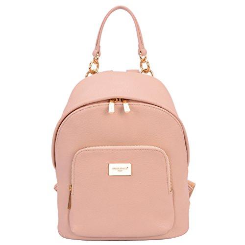 DAVID - JONES INTERNATIONAL Women Cute Pink Vegan Leather Backpack