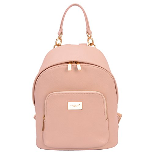 DAVID - JONES INTERNATIONAL Women Cute Pink Vegan Leather Backpack