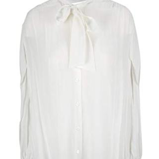Balenciaga Women's White Silk Blouse