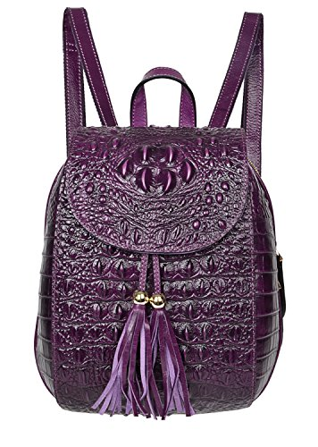 Leather Backpack For Women, Crocodile Bags Fashion Casual Backpack