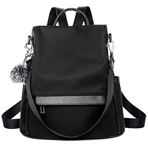 Miracu Women Backpack Purse Anti Theft, Fashion Nylon Lady School Travel Bag