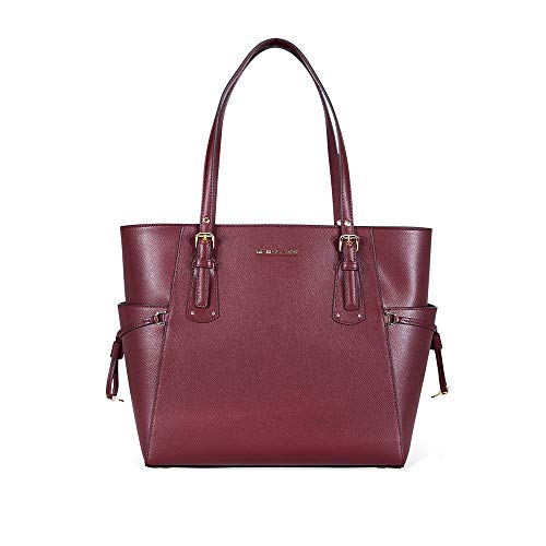 MICHAEL Michael Kors Voyager East West Signature Tote (Oxblood)