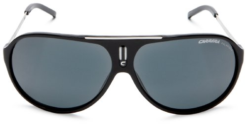 Carrera Hot Aviator Sunglasses, Black And Palladium Frame/Grey Lens,one size