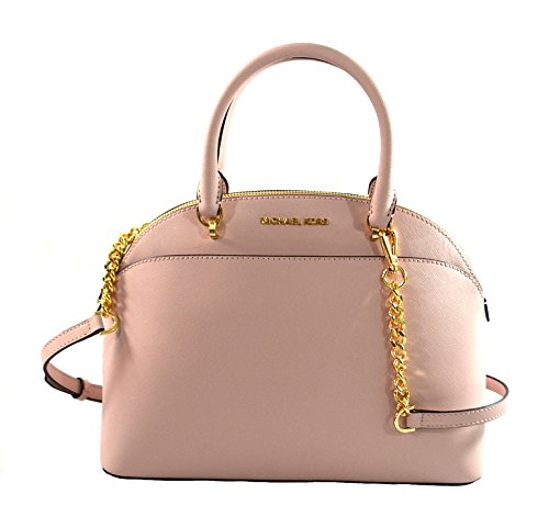3a0284dff33963 Michael Kors Emmy Large Dome Saffiano Leather Satchel Clout Wear ...
