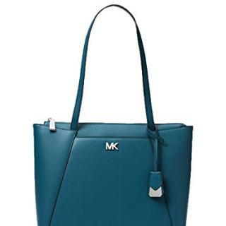 Michael Michael Kors Maddie Medium Leather Tote (Luxe Teal)