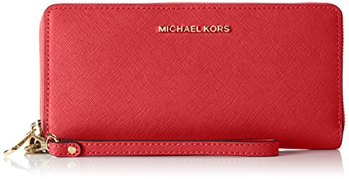 MICHAEL MICHAEL KORS Jet Set Travel Leather Continental Wristlet