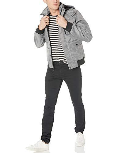 Ben Sherman Men's Softshell Outerwear Jacket, Charcoal, L