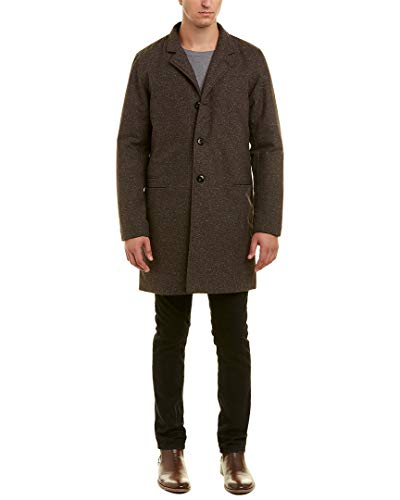Billy Reid Mens Eric Coat, M, Brown