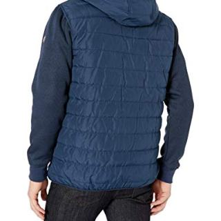 Ben Sherman Men's Bubble Jacket, Simple Sleeves Navy, L