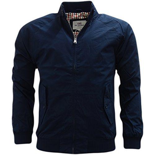 Ben Sherman Men's New Core Harrington Jacket X-Large Blue (Navy)