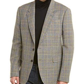Billy Reid Mens Walton Wool Sportcoat, 40R, Grey