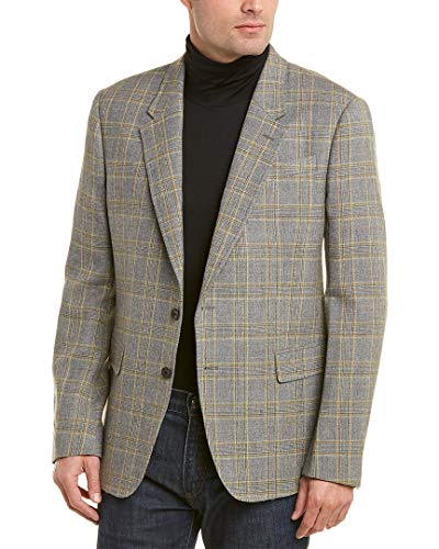 Billy Reid Mens Walton Wool Sportcoat, 40R, Grey