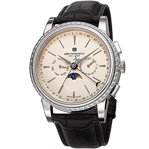 Bruno Magli Men's Limited Edition Swiss Quartz Multi-Function Watch with Italian Leather Strap