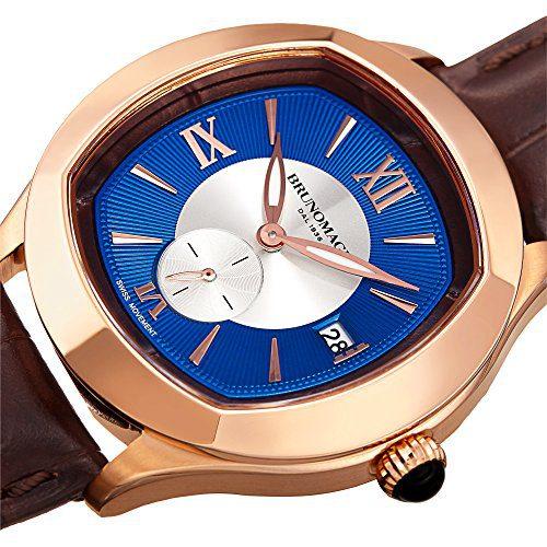 Bruno Magli Men's 1041 Swiss Quartz Italian Leather Strap Watch