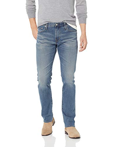 AG Adriano Goldschmied Men's The Matchbox Slim Straight Leg LED Denim Jean, Years Glitch, 33