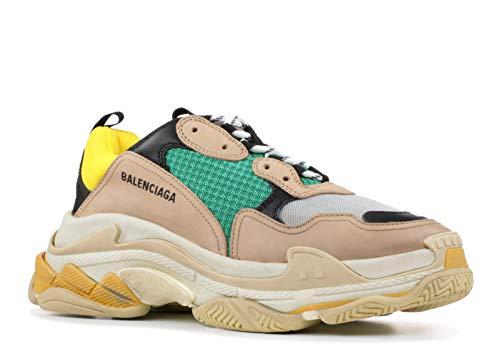 Balenciaga Men/Women Triple S Mesh Nubuck Leather Platform Sneakers