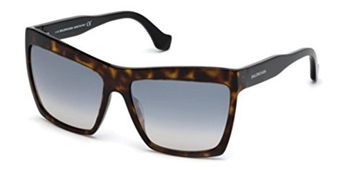 Balenciaga BA0089 Dark Havana/Flash Gradient Azure Fashion Sunglasses