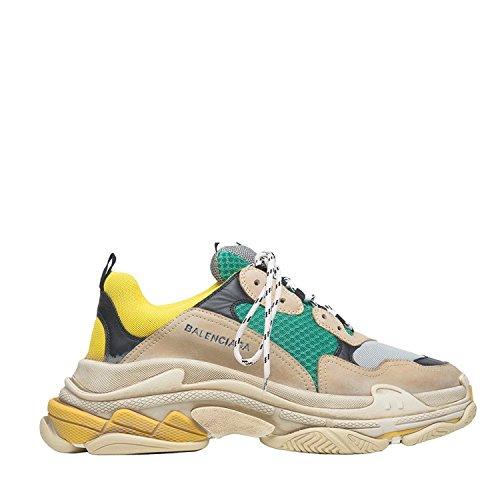 Balenciaga Men's & Women's Vintage Triple S Trainers Fashion Sneakers Yellow (Size 45)