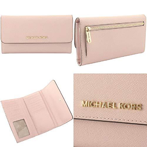 63ba4144952f Home   Shop   Women   Accessories   Handbags   Wallets   Michael Kors Jet  Set Travel Large Trifold Signature PVC Wallet (Pastel Pink)