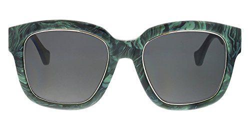 Balenciaga BA50 BA/50 81B Marble Green Fashion Sunglasses 52mm