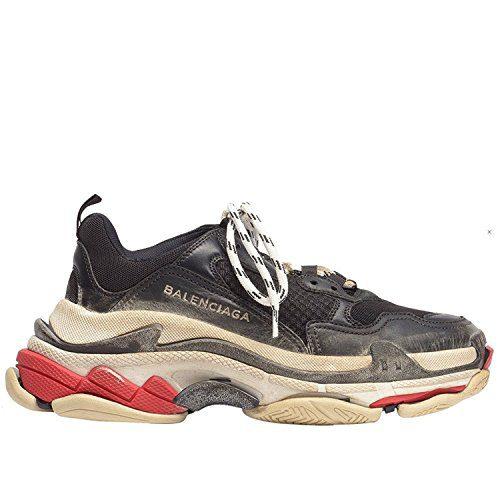 Balenciaga Men's & Women's Vintage Triple S Trainers Fashion Sneakers Black (Size 40)
