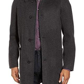 Billy Reid Men's Reversible Walking Coat Grey Outerwear