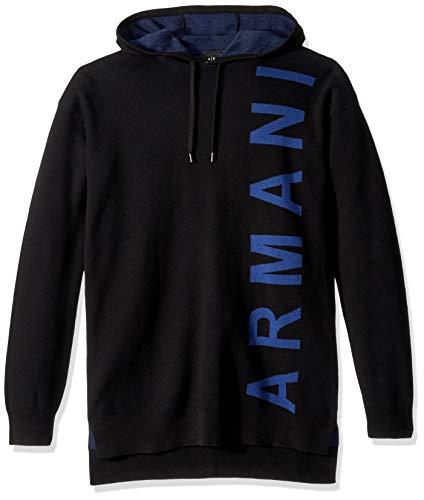 A|X Armani Exchange Men's Side Logo Hoodie, Black, M