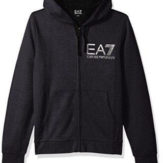 Emporio Armani Active Men's Train Visibility Melange Zip Up Hoodie Sweatshirt