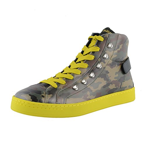 Dolce & Gabbana Camouflage Hi Top Leather Fashion Sneakers Shoes