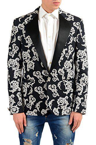 Versace Men's Silk Jacquard Blazer Sport Coat Size