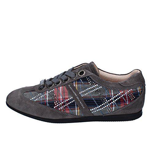 Alessandro Dell'Acqua Fashion-Sneakers Womens Suede Grey 9 US